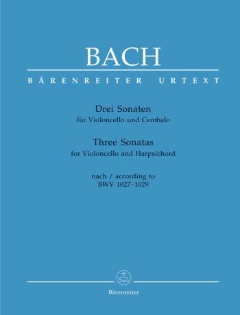 3 Sonatas: Bwv1027-1029: Cello De Gamba & Harpsichord (Barenreiter)