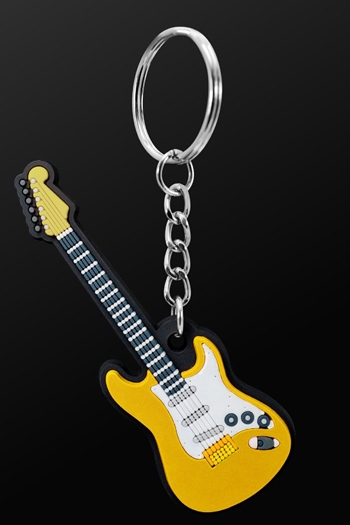 Keyring Electric Guitar Yellow