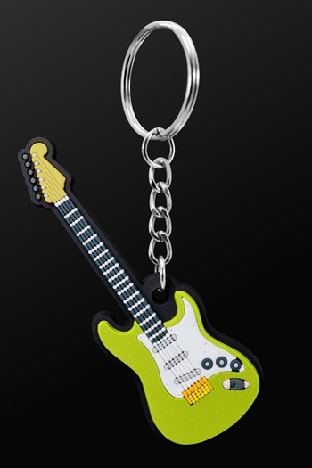 Keyring Electric Guitar Green