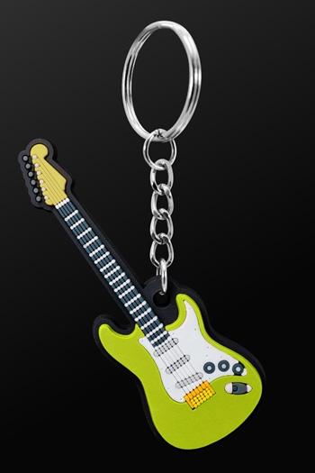 Keyring Electric Guitar Green