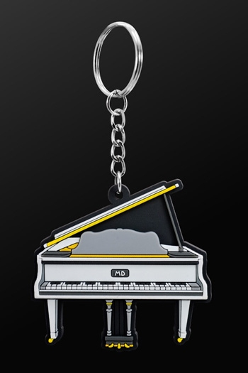 Keyring Grand PIano White