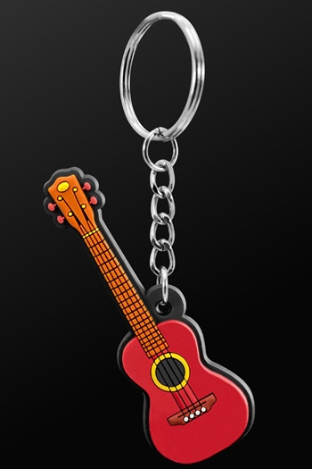 Keyring Ukulele Brown
