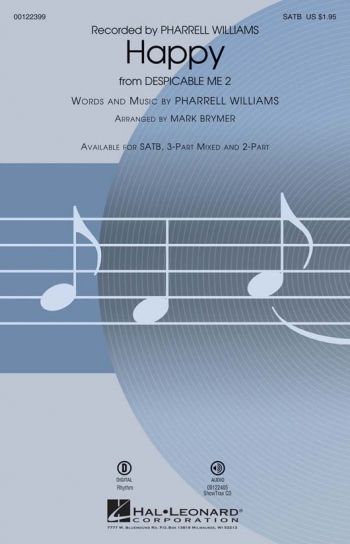 Happy Vocal SATB (Pharrell Williams Arr. Mark Brymer)
