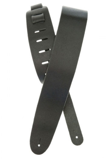 """Guitar Strap 2.5"""" Classic Black Leather By Planet Waves"""