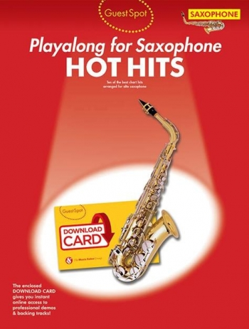 Guest Spot: Hot Hits Alto Saxophone (Book/Download Card)