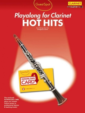 Guest Spot: Hot Hits Clarinet (Book/Download Card)