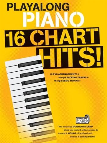 Playalong Piano: 16 Chart Hits Book & Download Card
