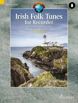 Irish Folk Tunes: 63 Traditional Pieces For Descant Recorder Book & Cd (Bowman)