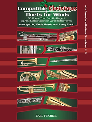 Compatible Christmas Duets For Winds: Alto Or Baritone Saxophone