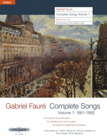 Complete Songs Vol.1 Medium Voice & Piano (Peters)