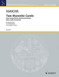 Two Maronite Carols String Quartet: Score & Parts (Hakim