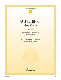 Ave Maria: Viola & Piano (Schott)