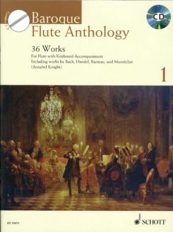 Baroque Flute Anthology Vol 1: 36 Works Book & Cd (Schott)
