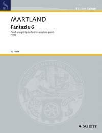 Fantazia 6: Purcell Arranged By Martland For Saxophone Quartet SATB Score & Parts