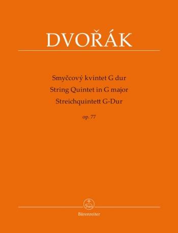 String Quintet In G Major Op. 77 Set Of Parts (Barenreiter)