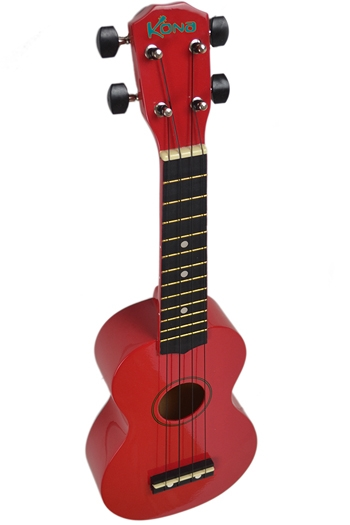 Kona Ukulele In Red With Cover
