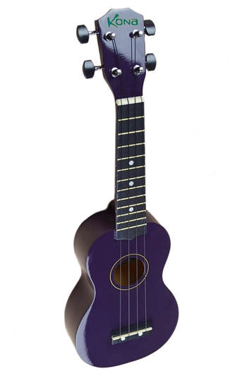 Kona Ukulele In Purple With Cover