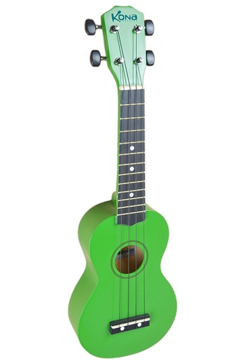 Kona Ukulele In Green With Cover