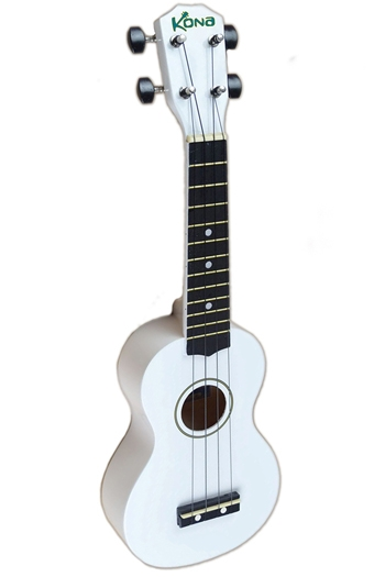 Kona Ukulele In White With Cover