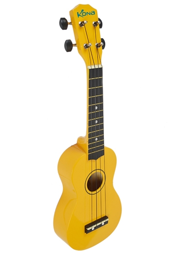 Kona Ukulele In Yellow With Cover