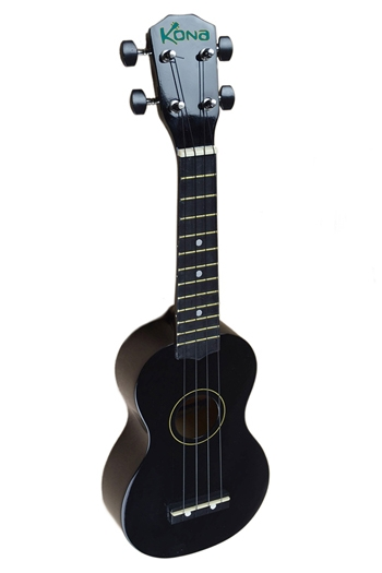 Kona Ukulele In Black With Cover