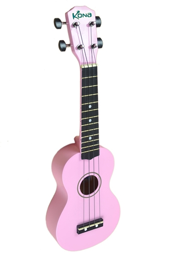 Kona Ukulele In Pink With Cover