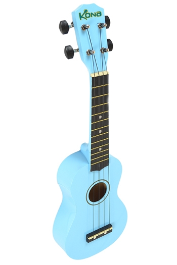 Kona Ukulele In Light Blue With Cover