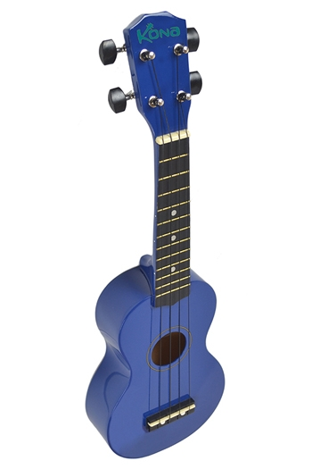 Kona Ukulele In Dark Blue With Cover