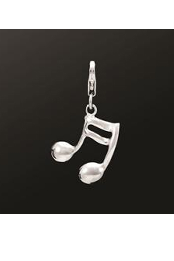 Sterling Silver Semiquaver Charm Suitable For Necklaces Or Charm Bracelets