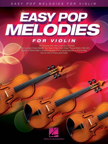 Easy Pop Melodies - For Violin: Melody Line With Lyrics & Chords