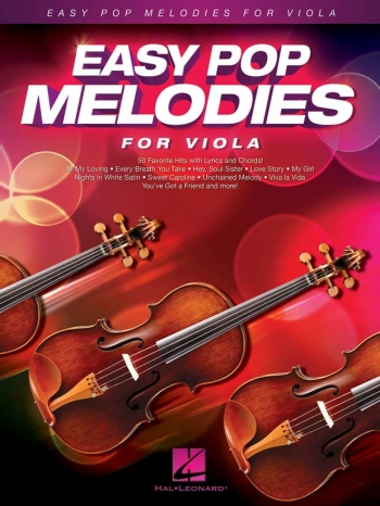 Easy Pop Melodies - For Viola: Melody Line With Lyrics & Chords