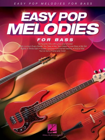 Easy Pop Melodies - For Double Bass: Melody Line With Lyrics & Chords