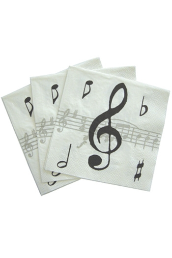 Music Notes Paper Napkins