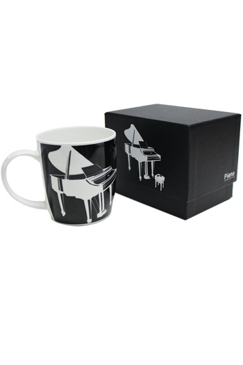 Bone China Mug: Silhouette Piano Black (Boxed)