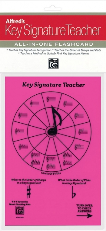 Alfred: Key Signature Teacher: All In One Flashcard (Pink)