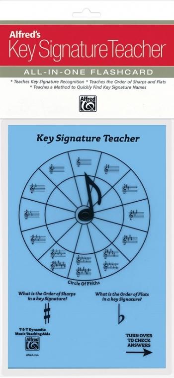 Alfred: Key Signature Teacher: All In One Flashcard (Blue)