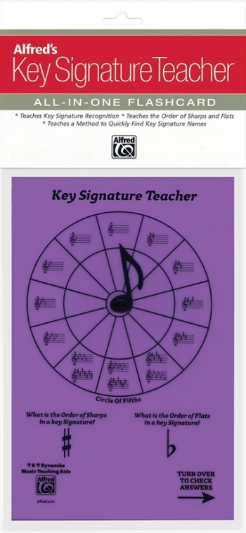 Alfred: Key Signature Teacher: All In One Flashcard (Purple)