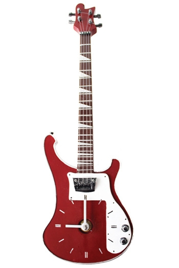 Clocks: Bass Guitar Red