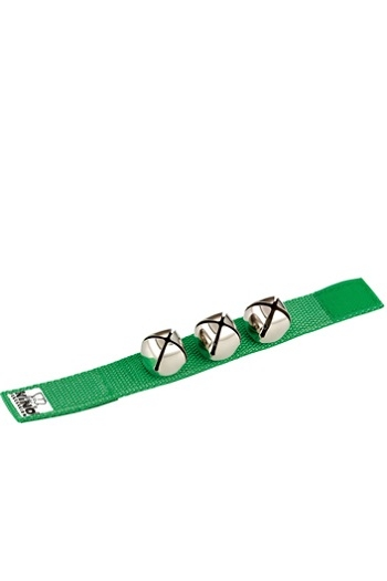 Wrist Bells: Green Nylon Strap With Three Bells (Nino)