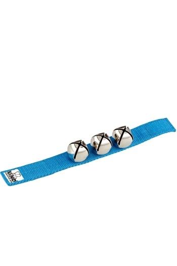 Wrist Bells: Blue Nylon Strap With Three Bells (Nino)