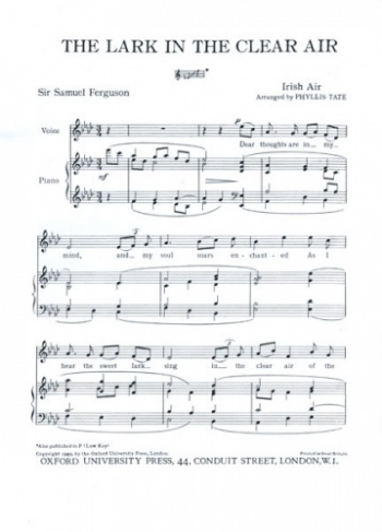 Lark In The Clear Air:  Ab Major Vocal Medium Solo Song