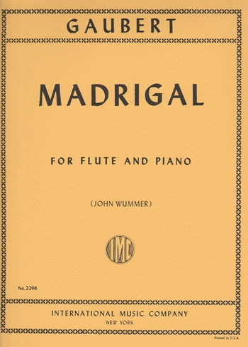 Madrigal: Flute And Piano (International)