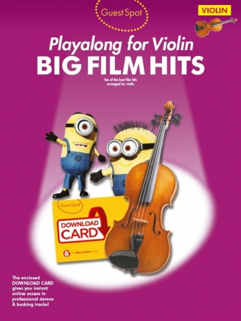 Guest Spot: Big Film Hits Violin (Book/Download Card)