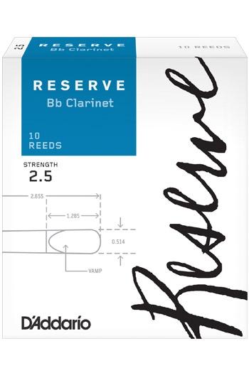 Clarinet Bb Reeds D'Addario: Reserve (Box 10)