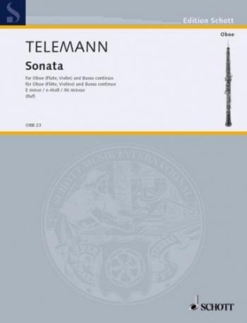 Sonata In E Minor: Oboe & Piano (Schott)