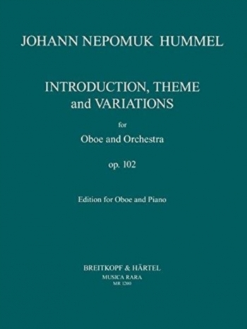 Introduction Theme & Variaition OP102 Oboe & Piano (Breitkopf)