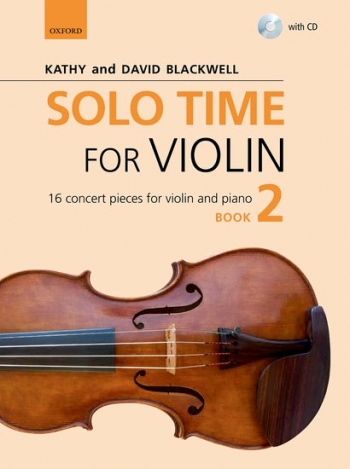 Solo Time For Violin Book 2 + CD: 16 Concert Pieces (Blackwell