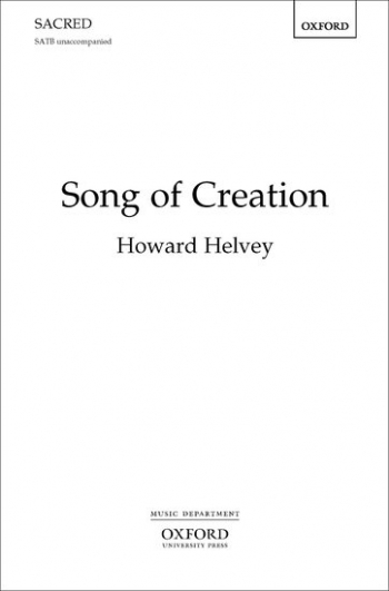 Song Of Creation Let The Earth Glorify The Lord  Vocal SATB Unnacompanied