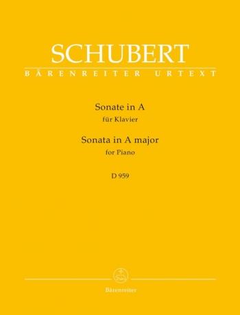 Sonata  A Major -D959: Piano Solo (Barenreiter)