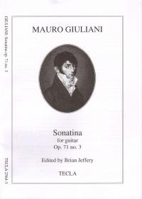 Sonatina In D Op 71 No 3 Guitar (Tecla 2564.3)